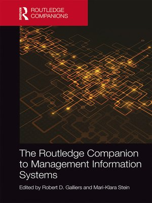 cover image of The Routledge Companion to Management Information Systems