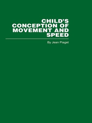 cover image of Child's Conception of Movement and Speed