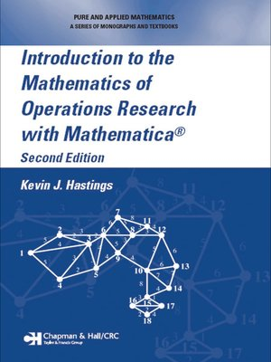 cover image of Introduction to the Mathematics of Operations Research with Mathematica®