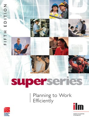 cover image of Planning to Work Efficiently