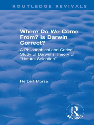 cover image of Where Do We Come From? Is Darwin Correct?