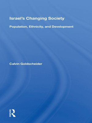cover image of Israel's Changing Society