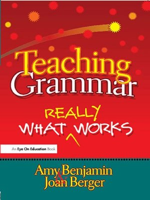 cover image of Teaching Grammar