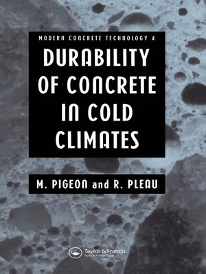 cover image of Durability of Concrete in Cold Climates