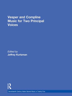 cover image of Vesper and Compline Music for Two Principal Voices