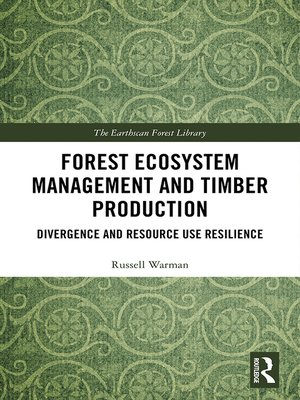cover image of Forest Ecosystem Management and Timber Production