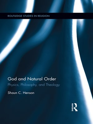 cover image of God and Natural Order
