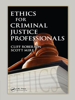 cover image of Ethics for Criminal Justice Professionals