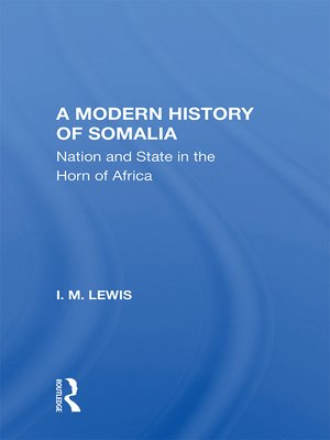cover image of A Modern History of Somalia