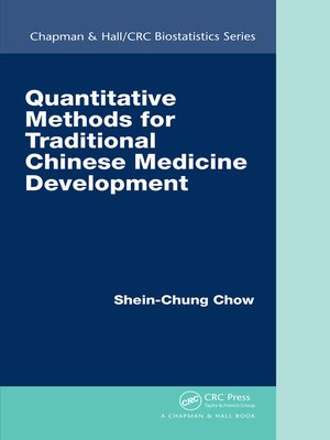cover image of Quantitative Methods for Traditional Chinese Medicine Development