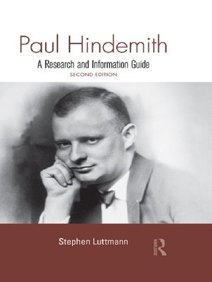 cover image of Paul Hindemith