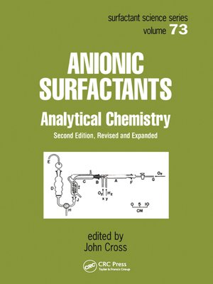 cover image of Anionic Surfactants