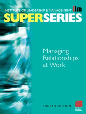 cover image of Managing Relationships at Work