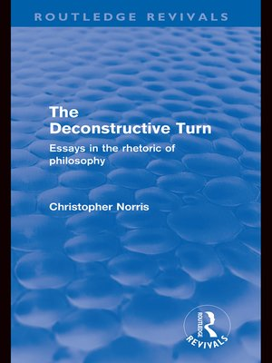 cover image of The Deconstructive Turn (Routledge Revivals)