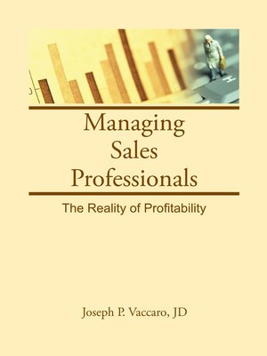 cover image of Managing Sales Professionals