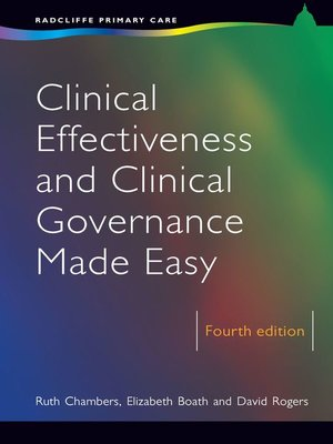 cover image of Clinical Effectiveness and Clinical Governance Made Easy