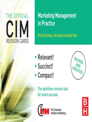 cover image of CIM Revision Cards Marketing Management in Practice
