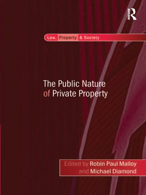 cover image of The Public Nature of Private Property