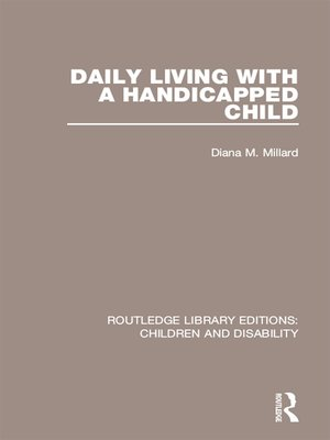 cover image of Daily Living with a Handicapped Child
