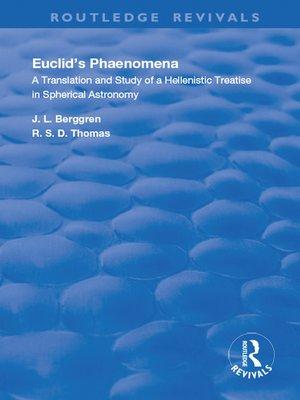 cover image of Euclid's Phaenomena