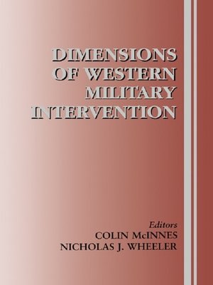 cover image of Dimensions of Western Military Intervention