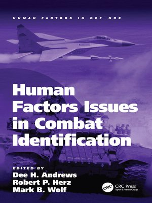 cover image of Human Factors Issues in Combat Identification