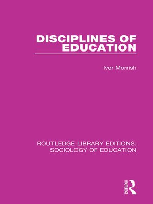 cover image of Disciplines of Education