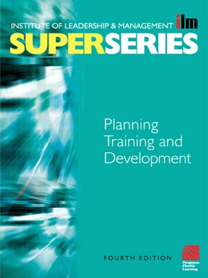 cover image of Planning Training and Development