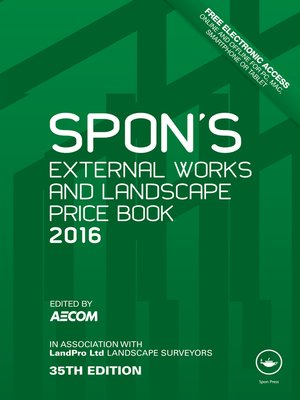 cover image of Spon's External Works and Landscape Price Book 2016