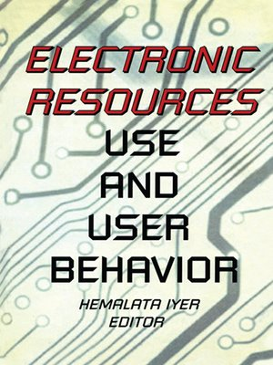 cover image of Electronic Resources