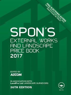 cover image of Spon's External Works and Landscape Price Book 2017