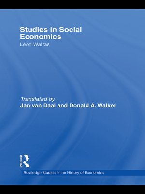 cover image of Studies in Social Economics
