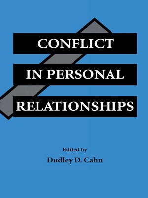 cover image of Conflict in Personal Relationships