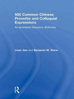 cover image of 500 Common Chinese Proverbs and Colloquial Expressions