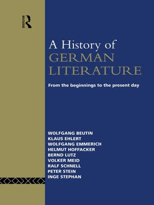 cover image of A History of German Literature