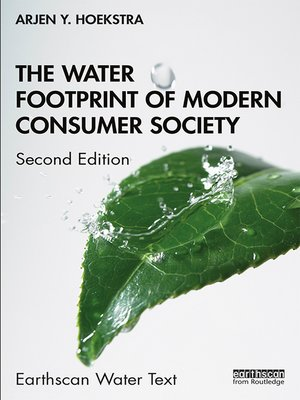 cover image of The Water Footprint of Modern Consumer Society