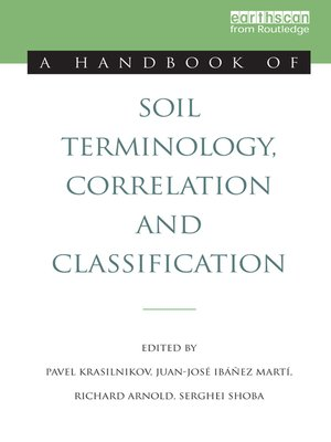 cover image of A Handbook of Soil Terminology, Correlation and Classification
