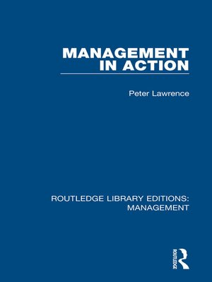 cover image of Management in Action