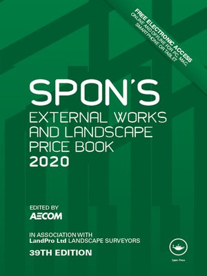 cover image of Spon's External Works and Landscape Price Book 2020