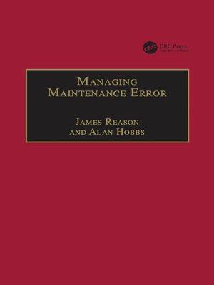 cover image of Managing Maintenance Error