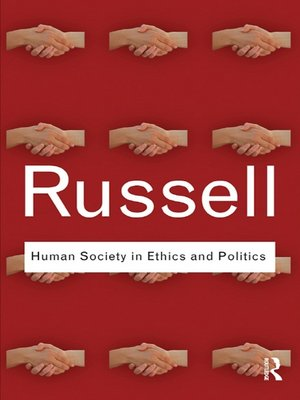 cover image of Human Society in Ethics and Politics