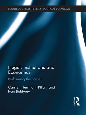 cover image of Hegel, Institutions and Economics