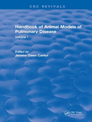 cover image of CRC Handbook of Animal Models of Pulmonary Disease