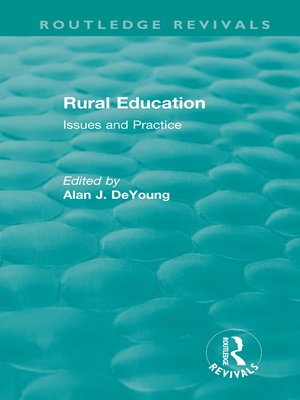 cover image of Rural Education (1991)