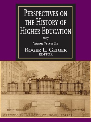 cover image of Perspectives on the History of Higher Education