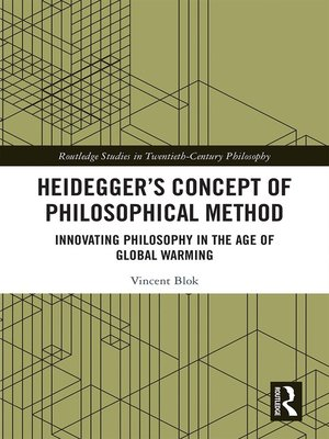 cover image of Heidegger's Concept of Philosophical Method