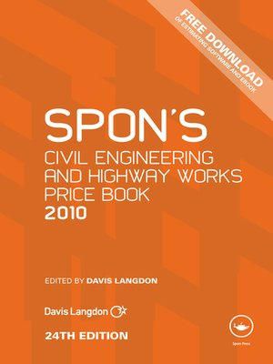 cover image of Spon's Civil Engineering and Highway Works Price Book 2010