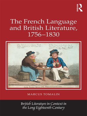 cover image of The French Language and British Literature, 1756-1830