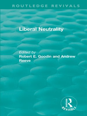 cover image of Liberal Neutrality