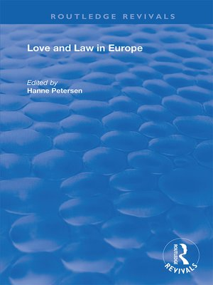 cover image of Love and Law in Europe
